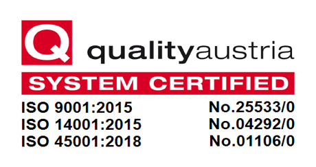 Energetica fulfills the requirements for ISO 9001, 14001, and 45001 certifications straight away and without major or minor deviations.